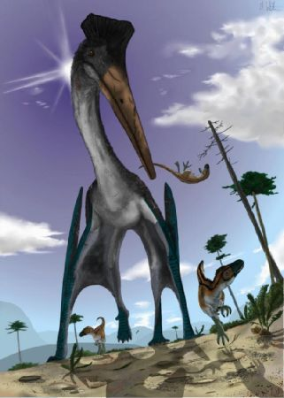 Pterosaur hunting is illustrated. - Illustration by Mark Witton