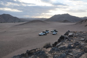 Overnight camp in Northern Namibia. Credit: C. Haberland, GFZ