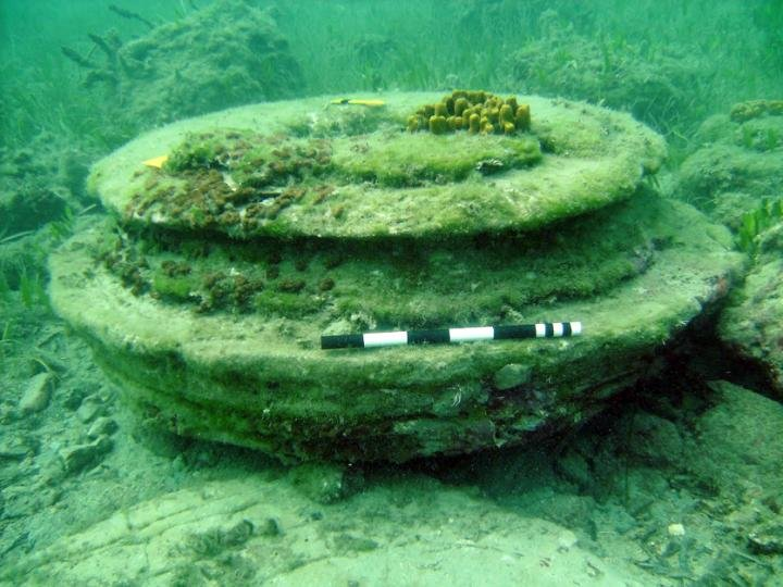 The ancient underwater remains of a long lost Greek city were in fact created by a naturally occurring phenomenon -- according to joint research from the University of East Anglia and the University of Athens (Greece). Credit: University of Athens