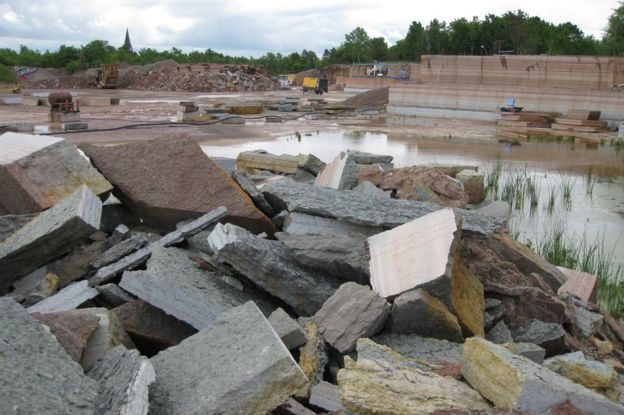The meteorites are deemed to spoil the floor tiles and will be rejected by the quarry