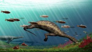 Life restoration of Atopodentatus unicus. Image credit: Institute of Vertebrate Paleontology and Paleoanthropology.