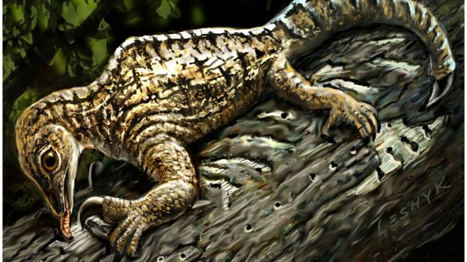 Drepanosaurus ripped away tree bark with a massive claw to get at hidden insects