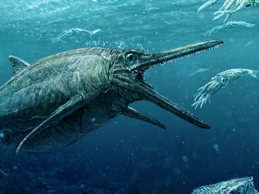 An artist's rendering of what the Storr Lochs monster looked like in the Jurassic period (Photo: Todd Marshall)
