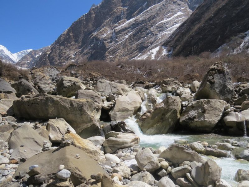 This is an image of the Modi Khola river, Nepal. Credit: Henry Pinder