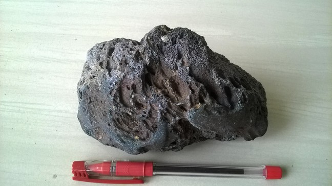 Scoria obtained from outcrop .@World Fossil Society,Riffin T Sajeev,Russel T Sajeev