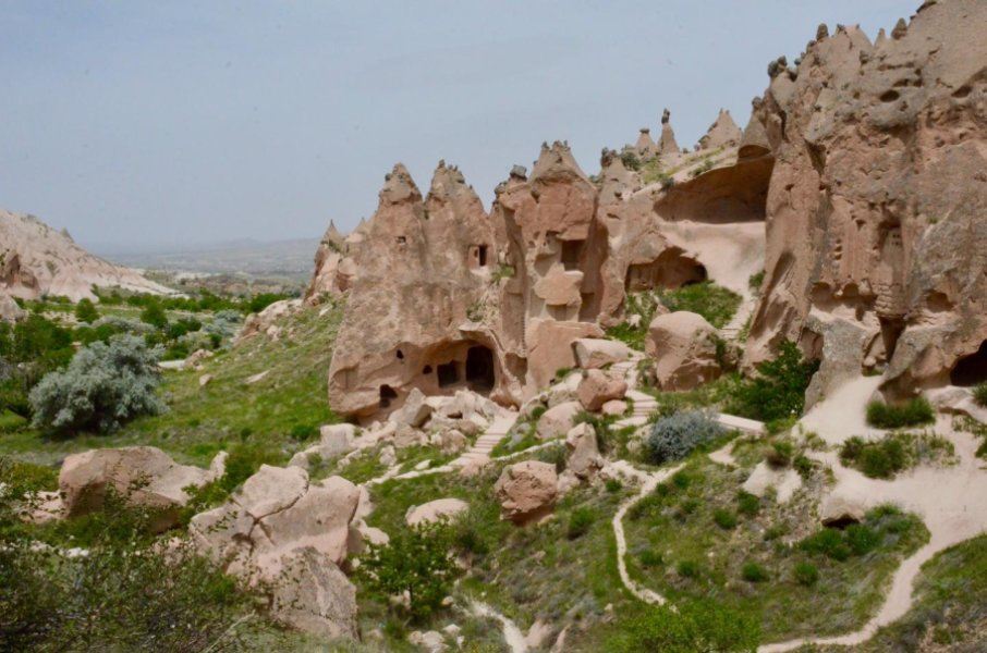 Cave city in volcanic rocks of uplifted Central Anatolian plateau. Credit: Russell Pysklywec