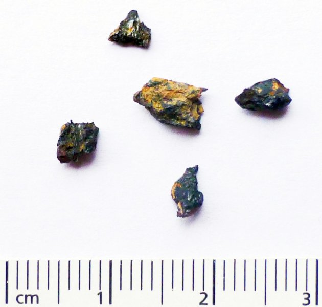 Researchers Jan Kramers and Georgy Belyanin found mineral compounds unlike anything on Earth, or in known meteorites or comets, in these fragments from the Hypatia stone, which was picked up in south-west Egypt in the Libyan Desert Glass Field. Credit: Dr Mario di Martino, INAF Osservatorio Astrofysico di Torino